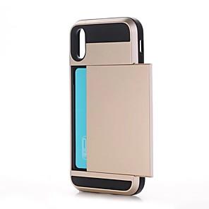 ieftine Lumini de Bicicletă-Maska Pentru Apple / iPhone X iPhone X / iPhone 8 Plus / iPhone 8 Titluar Card / Anti Șoc Capac Spate Mată Greu PC