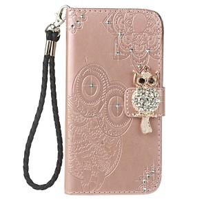 Etui Til Samsung Galaxy Note 8 Lommebok / Kortholder / Rhinstein Heldekkende etui Ugle Hard PU Leather