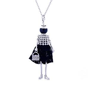 ieftine Colier la Modă-Pentru femei Coliere Lung Prinţesă femei Lux Dantelă Aliaj Negru Mov Coliere Bijuterii Pentru Petrecere Stradă