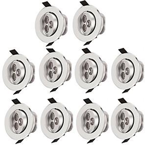 ieftine Becuri LED Plafon-10pcs 3 W 300 lm 3 LED-uri de margele Ușor de Instalat Încastrat Plafonieră Alb Cald Alb Rece 85-265 V Rezidențial Acasă / Birou Living / Dinning / 10 bc / RoHs / CE