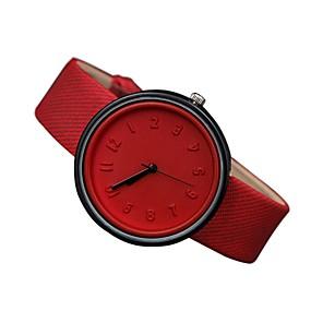 ieftine Cuarț ceasuri-Pentru femei Ceas de Mână Quartz femei Ceas Casual Piele Autentică Negru / Alb / Albastru Analog - Alb Negru Rosu