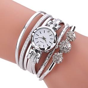 ieftine Ceasuri Brățară-Pentru femei Ceas Brățară Simulat Diamant Ceas Diamond Watch Quartz femei imitație de diamant Analog Alb Negru Fucsia / Piele PU Matlasată / Un an / Un an / TY 377A