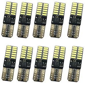 ieftine Becuri De Mașină LED-10pcs T10 Mașină Becuri 12W SMD 4014 1000lm 24 Lumini exterioare For Παγκόσμιο Toate Modele Toți Anii