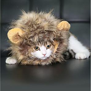 ieftine Părți Motociclete & ATV-Crăciun Jucărie Pisică Animale de Companie  Jucarii Drăguț Halloween Lion Mane Blană Artificială Cadou