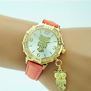 ieftine Ceasuri Damă-Pentru femei Ceas de Mână Quartz Piele Negru / Alb / Albastru Stras Analog femei Casual Modă - Roz Auriu Verde Deschis Un an Durată de Viaţă Baterie / Tianqiu 377