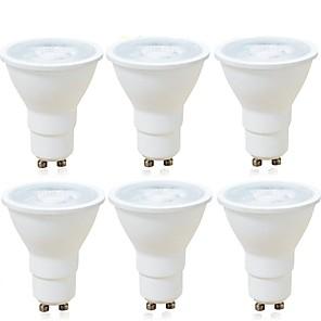 ieftine Spoturi LED-6pcs 6 W Spoturi LED 600 lm GU10 MR16 1 LED-uri de margele COB Intensitate Luminoasă Reglabilă Decorativ Alb Cald Alb Rece 220-240 V / RoHs