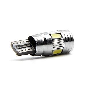 ieftine Becuri De Mașină LED-2pcs T10 Mașină Becuri 6W SMD 5730 600lm 6 Lumini exterioare For Παγκόσμιο Toate Modele Toți Anii