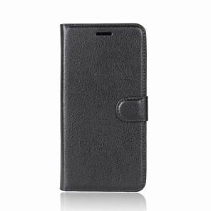 Недорогие Чехлы и кейсы для Galaxy A7-Кейс для Назначение Nokia Кошелек / Бумажник для карт / со стендом Однотонный Твердый