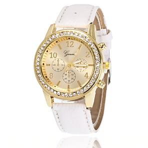 ieftine Cuarț ceasuri-Pentru femei Ceas de Mână Simulat Diamant Ceas Diamond Watch Quartz femei imitație de diamant Piele PU Matlasată Negru / Alb / Albastru Analog - Alb Negru Albastru