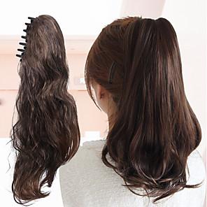 ieftine Extensii de Păr-Cu Clape Clame Clasic Universal Buclat Coadă de cal Înfășurați-vă Calitate superioară din fibre sintetice Fir de păr Extensie de păr 16