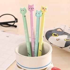 billige Tegne- og skriveredskaber-Gel Pen Pen Gel Penne Pen, Plast Blå Blæk Farver Til Skoleartikler Kontorartikler Pakke med 12 pcs