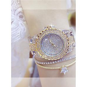 ieftine Ceasuri Damă-Pentru femei Ceasuri de lux Ceas de Mână Diamond Watch Quartz Oțel inoxidabil Argint / Auriu Ceas Casual Analog femei Elegant Bling bling - Auriu Argintiu
