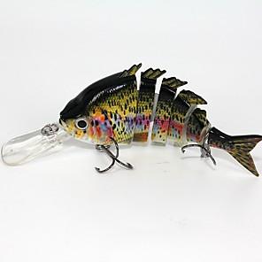 ieftine Mănuși pescuit-1 pcs Δόλωμα Momeală Dură Plutire Bass Păstrăv Ştiucă Pescuit mare Aruncare Momeală Pescuit de Apă Dulce Plastic / Momeală pescuit / Pescuit în General