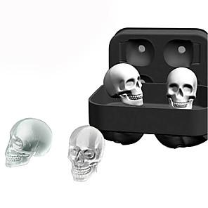 ieftine Produse de Bar-3d silicon craniu gheață cuburi mucegai whisky cocktail gheață taler maker tava Halloween bar diy instrument