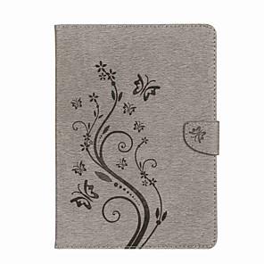 ieftine Carcase iPad-Maska Pentru Apple iPad Air / iPad 4/3/2 / iPad Mini 3/2/1 Portofel / Titluar Card / Cu Stand Carcasă Telefon Fluture / Floare Greu PU piele / iPad Pro 10.5 / iPad 9.7 (2017)