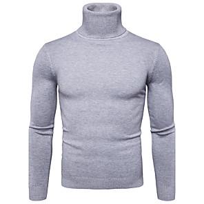 ieftine Bluze de Bărbați și Cardigane-Bărbați Mată Plover Manșon Lung Regular Pulover Cardigans Guler Pe Gât Toamnă Iarnă Alb Negru Roșu-aprins