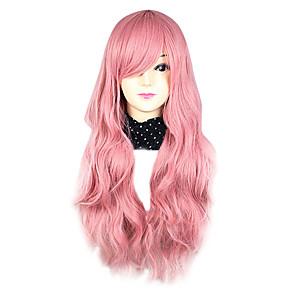 ieftine Moda Lolita-Peruci de Cosplay Pentru femei 30 inch Fibră Rezistentă la Căldură Pink Roz Anime