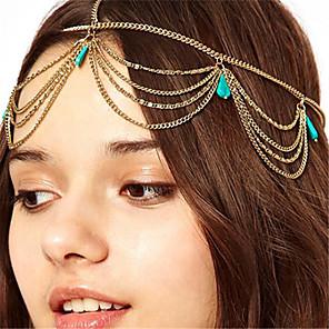 ieftine Bijuterii de Păr-Pentru femei Stil Vintage Boho,Aliaj-Turcoaz / Concediu