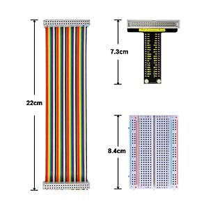 ieftine Conectoare & Terminale-zmeura pi v1 board40p panglică colorată cable400-hole breadboard