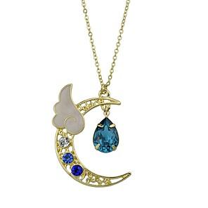 ieftine Colier la Modă-Pentru femei Coliere cu Pandativ Semilună stil minimalist Modă Imitație turmalină Aliaj Rosu Albastru Deschis Coliere Bijuterii Pentru Casual aleasă a inimii