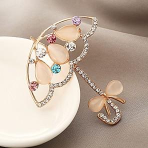 povoljno Broševi-Žene Sintetički dijamant Broševi dame Klasik Zircon Broš Jewelry Zlato Za Dar Dnevno