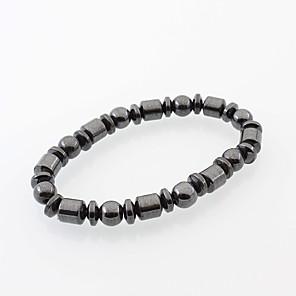 ieftine Cercei-Bărbați Pentru femei Brățări cu Mărgele Magnetic Picătură Ieftin Natură stil minimalist Modă Piatră naturală Bijuterii brățară Negru Pentru Zilnic Casual Stradă