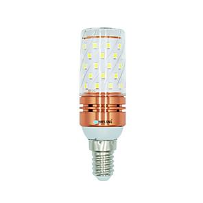 ieftine Gadget Baie-brelong 1 buc 12w e14 60d smd2835 lumina de porumb ac220v cald / alb alb / culoare lumina dubla