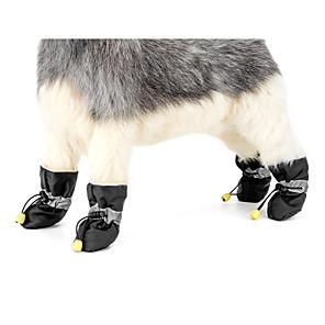 ieftine Imbracaminte & Accesorii Căței-Câine Sistem anti-alunecare Cizme de Zăpadă Iarnă Îmbrăcăminte Câini Negru Rosu Albastru Costume Material Textil Mată Casul / Zilnic Keep Warm Anul Nou XS S M L XL