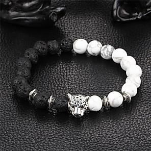 ieftine Brățări-Pentru femei Onyx Brățări cu Mărgele Brățară Yin Yang Natură Piatră Bijuterii brățară Negru Pentru Petrecere Cadou
