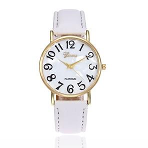 preiswerte Uhren Herren-Herrn Damen Uhr Armbanduhr Quartz Leder Schwarz / Weiß / Blau Armbanduhren für den Alltag Analog Charme Modisch Rosa Khaki Leicht Grün