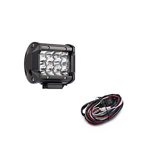 ieftine Gadget Baie-36w 3600lm 6000k 3-rânduri condus de lumină rece de culoare albă spot offroad lumina de conducere pentru masina / barca / far ip68 9-32v