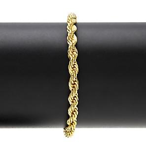 ieftine Brățări-Bărbați Pentru femei Brățări cu Lanț & Legături Brățară Geometric Clasic Vintage Modă Hip-Hop Teak Bijuterii brățară Auriu / Argintiu Pentru Petrecere Zilnic