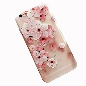 ieftine Cabluri de Adaptor AC & Curent-Maska Pentru Apple iPhone 8 Plus / iPhone 8 / iPhone 7 Plus Model Capac Spate Floare Moale TPU