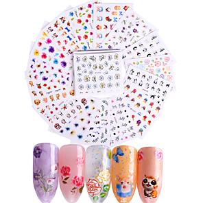 povoljno Šminka i njega noktiju-50 pcs 3D Nail Naljepnice Naljepnice naljepnice nail art Manikura Pedikura Moda Dnevno / 3D naljepnice za nokte