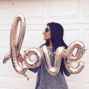 ieftine Kit De Activitate De Copii-1pc ligaturi dragostea baloane folie a crescut baloane de aur baloane dragoste bachelorette sta partid nunta aniversare decoratiuni consumabile