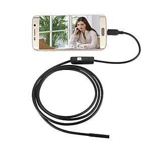 ieftine Microscop & Endoscop-7mm lentilă usb camera endoscop impermeabil ip67 inspecție borescope șarpe noapte video cam 1.5m lungime pentru android pc