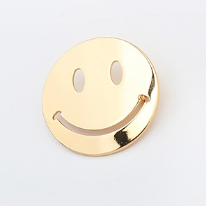 cheap Brooches-Women's Brooches Cheap Ladies Simple Brooch Jewelry Gold Silver For Daily