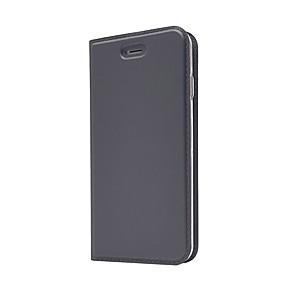 abordables Lampes de Poche-Coque Pour Apple iPhone X / iPhone 8 Plus / iPhone 8 Porte Carte / Avec Support / Clapet Coque Intégrale Couleur Pleine Dur faux cuir