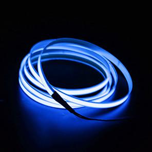 ieftine Benzi Lumină LED-BRELONG® 2m 0 LED-uri EL 2.3mm 1 buc Alb Roșu Albastru Rezistent la apă Auto- Adeziv Neon Electroluminescent Wire