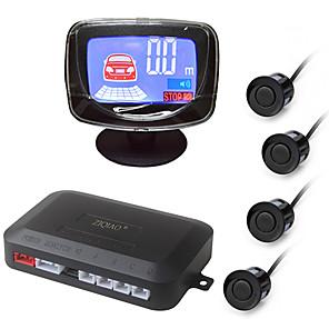 ieftine USB-uri-ziqiao® set de senzori de parcare pentru autovehicule cu 4 senzori 22mm buzzer lcd afișaj mașină de rezervă inversă radar monitor alarmă sistem de alarmă
