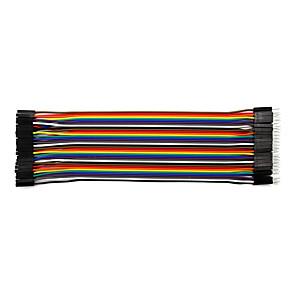 ieftine Conectoare & Terminale-masculi-femele 20cm / 40p / 2.54 / 10 linia de aluminiu placată cu cupru 24 bl