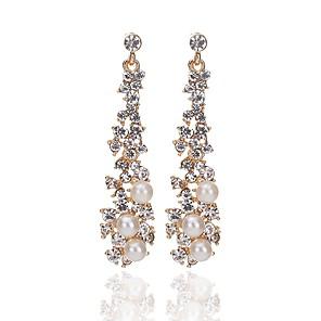 ieftine Cercei-Pentru femei Cercei Picătură Clasic Modă Imitație de Perle Diamante Artificiale cercei Bijuterii Auriu Pentru Logodnă Ceremonie