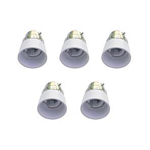 ieftine Baze de Lampe-5pcs B22 la E14 E14 Simplu Socket pentru lumină