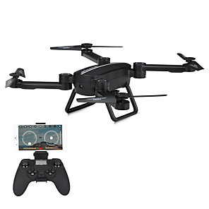 Недорогие Другие радиоуправляемые игрушки-RC Дрон JIESTAR X8TW Готов к полету 10.2 CM 6 Oси 2.4G С HD-камерой 720P Квадкоптер на пульте управления FPV / Светодиодные фонарики / Возврат Oдной Kнопкой Квадкоптер Hа пульте Y / Авто-Взлет