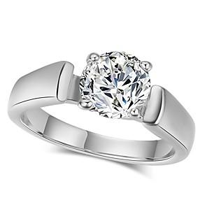 ieftine Inele-Pentru femei Band Ring Zirconiu Cubic moissanite 1 Roz auriu Argintiu Zirconiu Argilă Circle Shape Modă Elegant Nuntă Logodnă Bijuterii