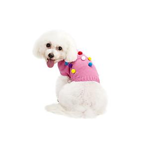 ieftine Adaptor-Pisici Câine Pulovere Iarnă Îmbrăcăminte Câini Roz Gri Costume Chinlon Buline Casul / Zilnic Keep Warm XS S M L XL