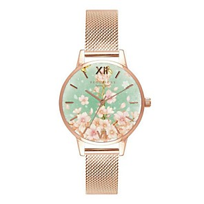 cheap Apple Watch Bands-Women's Wrist Watch Gold Watch Quartz Leather Black / Silver / Rose Gold Water Resistant / Waterproof Chronograph Analog Ladies Flower Casual Bohemian Fashion - Silver Gray Rose Gold One Year Battery