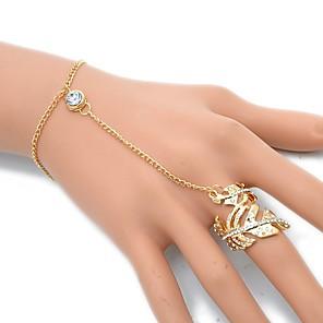 ieftine Brățări-Pentru femei Ring Bracelets Leaf Shape Plin de graţie European Rock Delicat Aliaj Bijuterii brățară Auriu / Argintiu Pentru Petrecere Zilnic