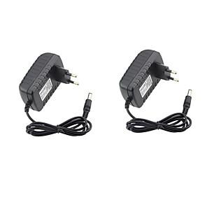 ieftine Adaptor-2pcs 12 V US / EU ABS + PC Adaptor putere pentru lumina LED Strip