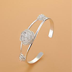 ieftine Ceasuri Smart2-Pentru femei Brățări Bantă Floare femei Argintiu Bijuterii brățară Argintiu Pentru Nuntă Petrecere